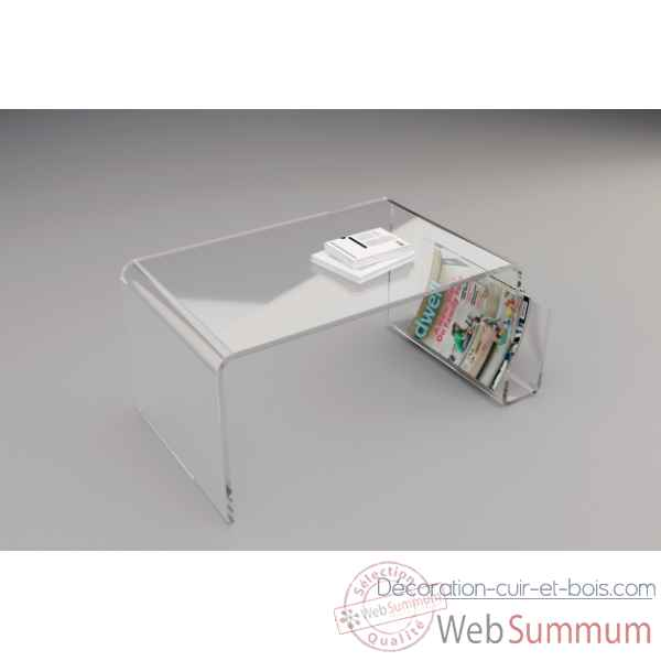 Table basse en plexiglas   verre Marais International de Meuble ... d74328159a75