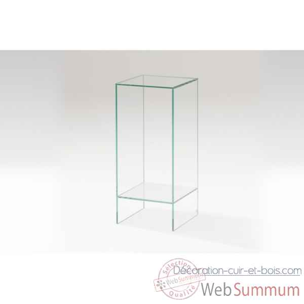 Sellette en verre ht.80cm Marais International -CP3