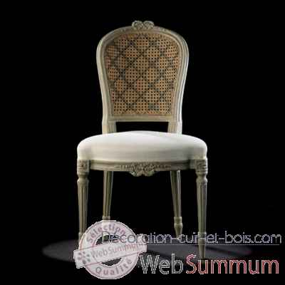 Chaise louis xvi ruban dos canne Massant -L16T11/1