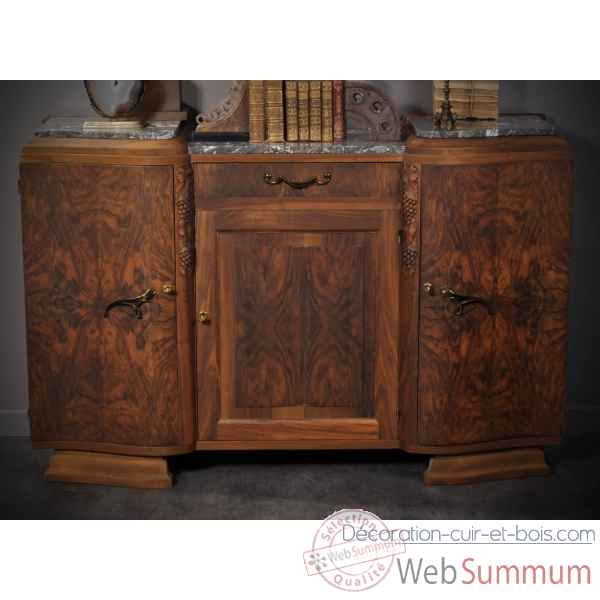 Buffet 40's -finition noyer vernis mat- antiquite Objet de Curiosite -PUMB027