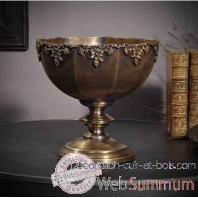 Coupe a fruits finition laiton antique Objet de Curiosite -DA196