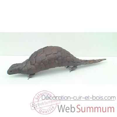 Pangolin en Metal Recycle Terre Sauvage  -ma49
