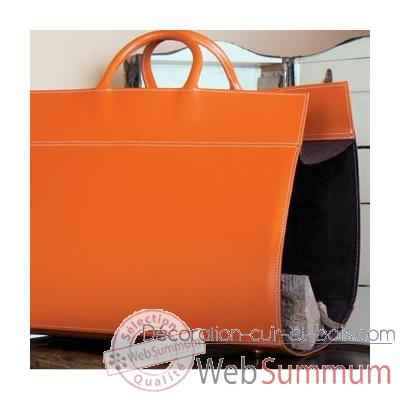 Porte buches Midipy en cuir Orange -mid018