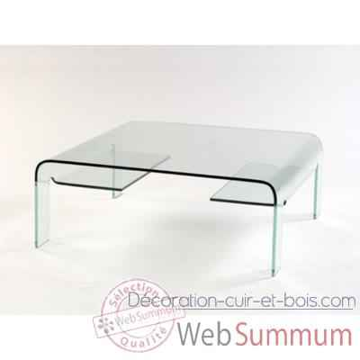 Table basse Marais pont carree en verre bombe -CARRER