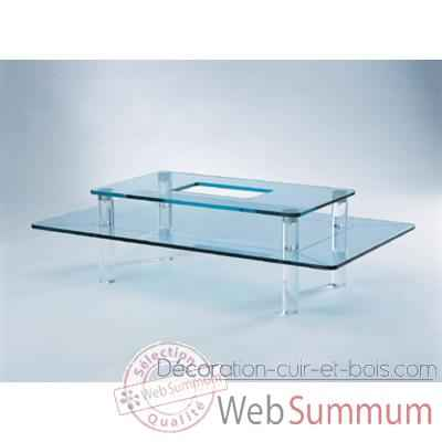f7fd063ab28d94 Table basse rectangulaire Marais de Marais International de Meuble ...