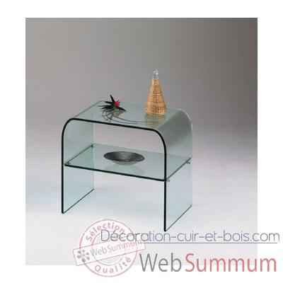 Table de chevet marais en verre bomb recuit dans mobilier - Table de chevet verre ...