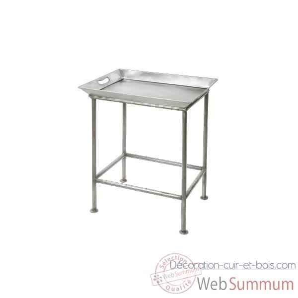 Table Metal set 2 gris clair Hindigo -JE13LGREY