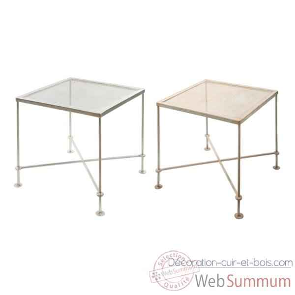 Table Metal rouille Hindigo -JE63ACI