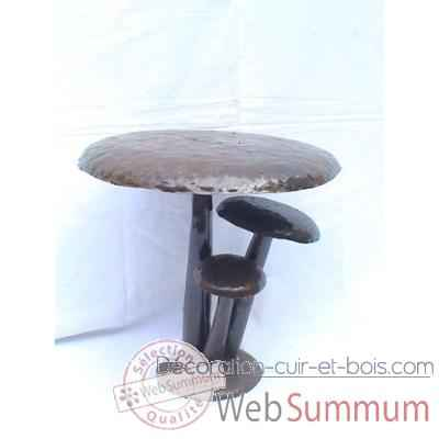 Tabouret Champignon en Metal Recycle Terre Sauvage  -ma44
