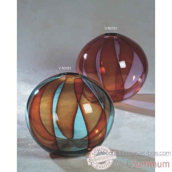 Video Vase rond en verre Formia -V60151